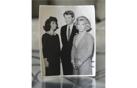 Nina Rhodes-Hughes (left) with RFK in 1965
