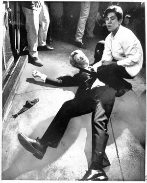 Busboy Juan Romero Comforting Kennedy