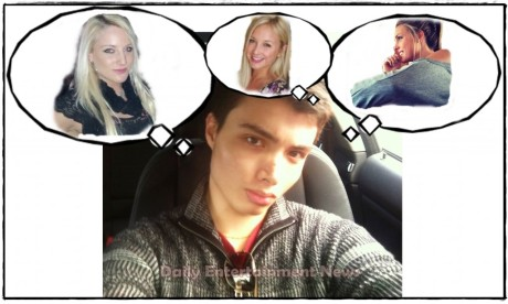 Elliot Rodger and Some of His Fantasy Girls.