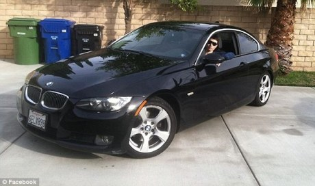 Elliot in his BMW