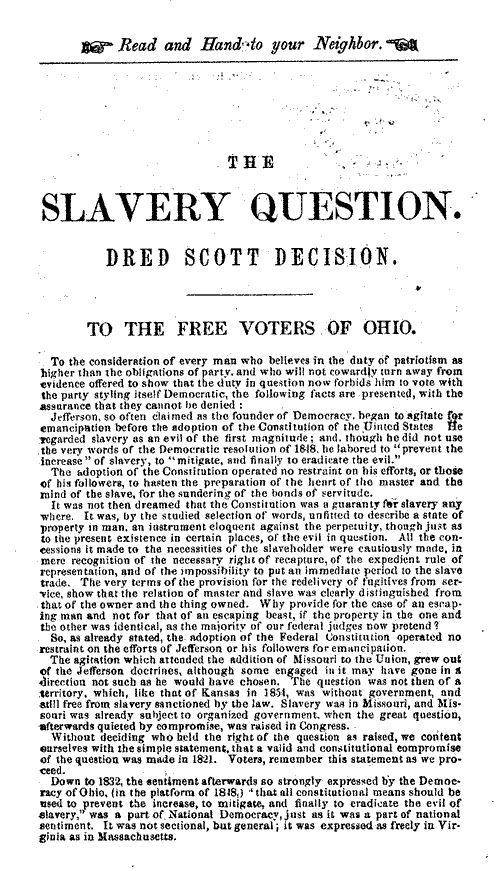 was slavery necessary in the constitution This page includes materials relating to the thirteenth amendment and the abolition of slavery cases, comments, questions.