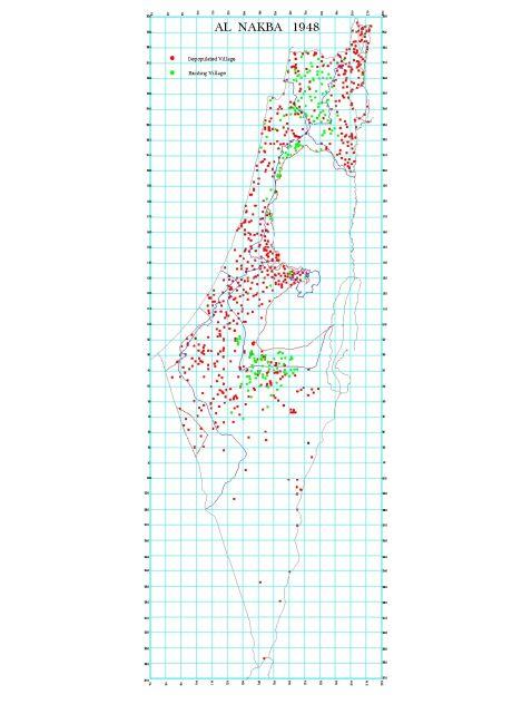 Al Nakba 1948 - Depopulated Palestinian Villages