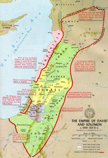 Empire of David & Solomon c 1000-925 BCE