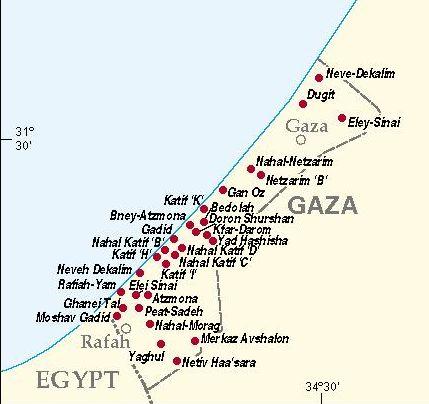 Israeli Settlements Gaza (1996)