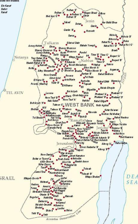 Israeli Settlements West Bank (1996)