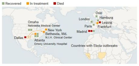 Ebola Cases Out of Africa