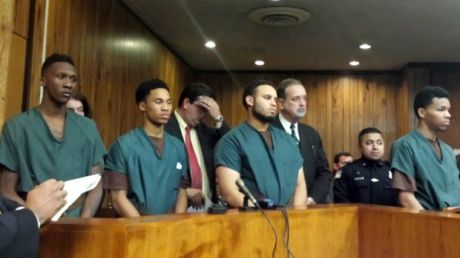 Four of Five Students Accused of Sexual Assault at their Arraignment on Dec. 2, 2014