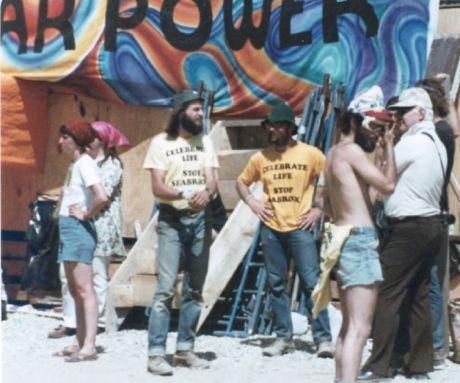1978 Clamshell Alliance Solar Fair at Seabrook Nuke Construction Site