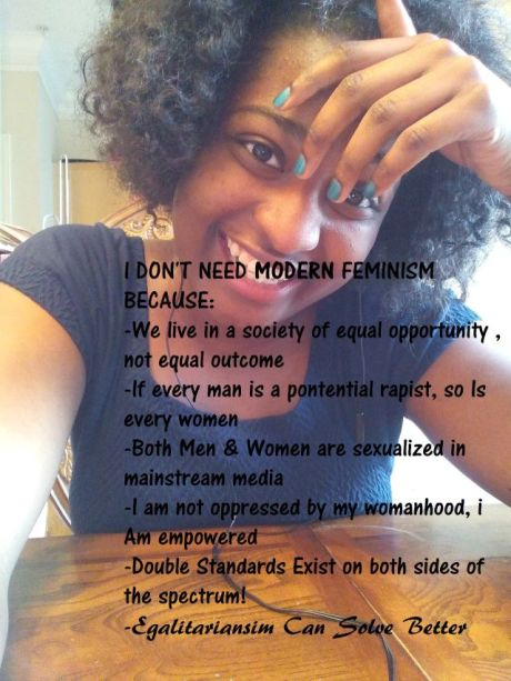 Selfie from Tumbl Page Women Against Feminism