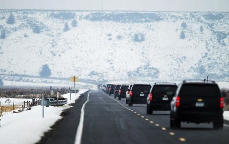 FBI Convoy Departs